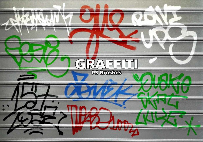 20 Graffiti PS Bürsten abr. Vol. 9