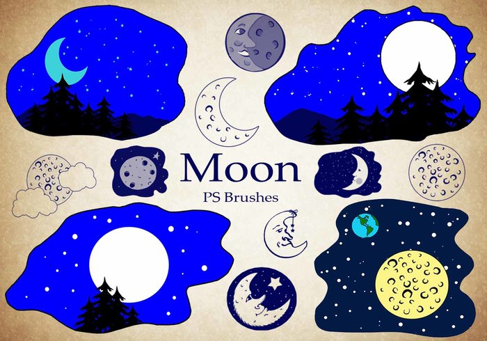 20 Moon Ps Brushes abr vol.4