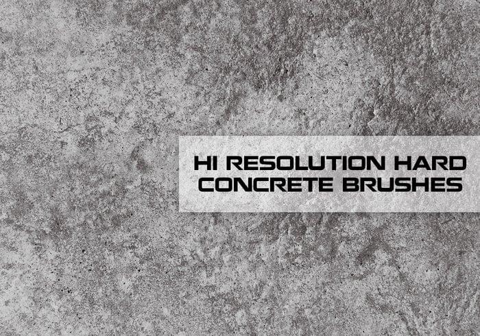 Escovas de textura de concreto de alta resolução