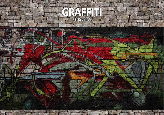 20 Graffiti PS Brushes abr. Vol.10