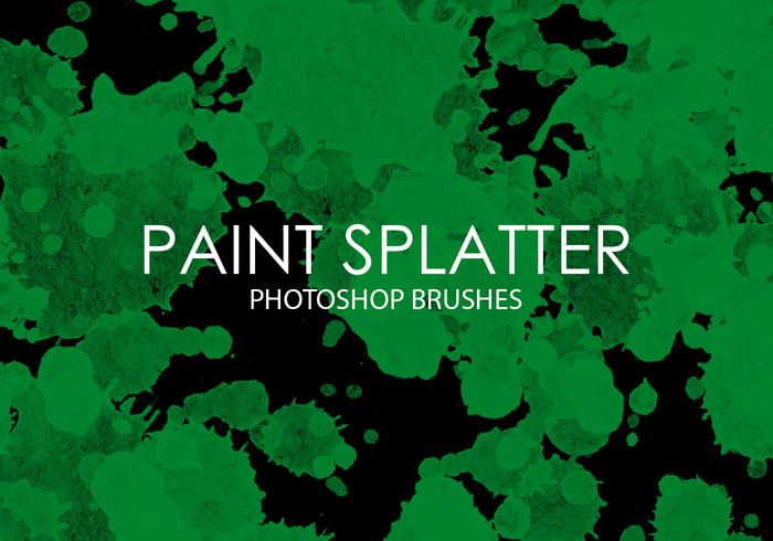 Free Paint Splatter Photoshop Brushes