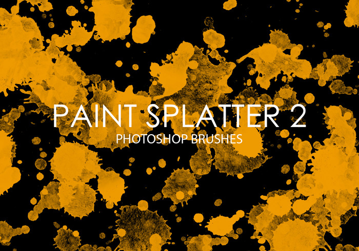 Free Paint Splatter Photoshop Brushes 2