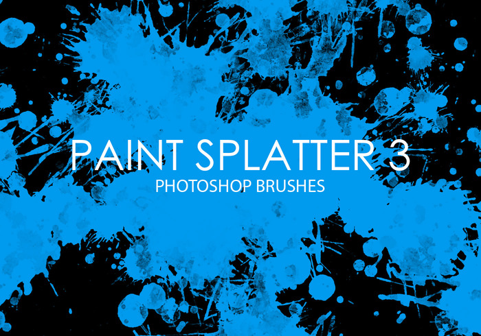Gratis Verf Splatter Photoshop Borstels 3