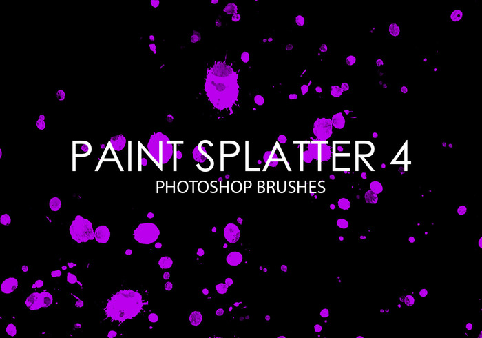 Paint Splatter Pinceles para Photoshop 4