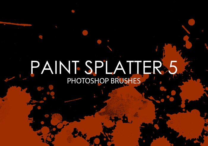 Gratis Verf Splatter Photoshop Borstels 5