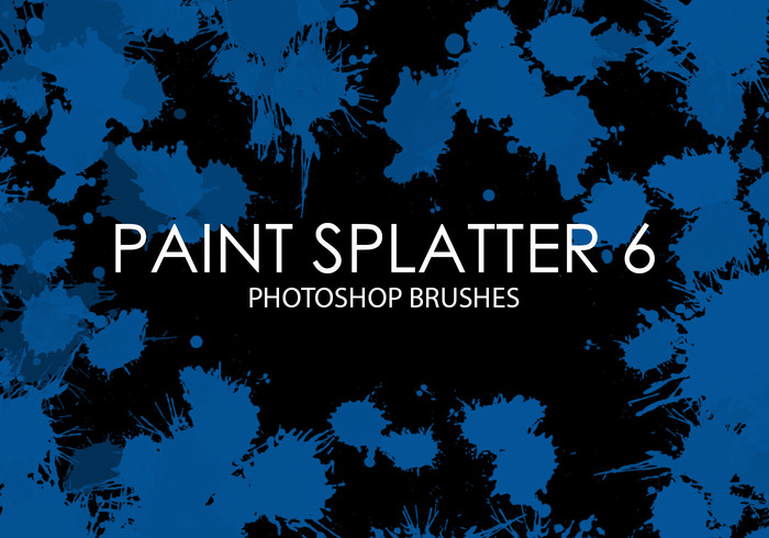 Gratis Verf Splatter Photoshop Borstels 6