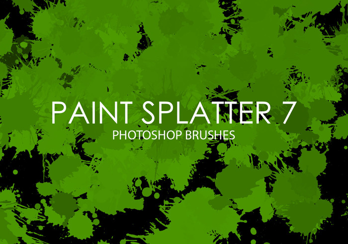 Gratis Paint Splatter Photoshop Borstar 7