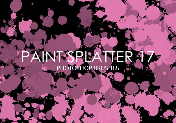 Free Paint Splatter Photoshop Brushes 17