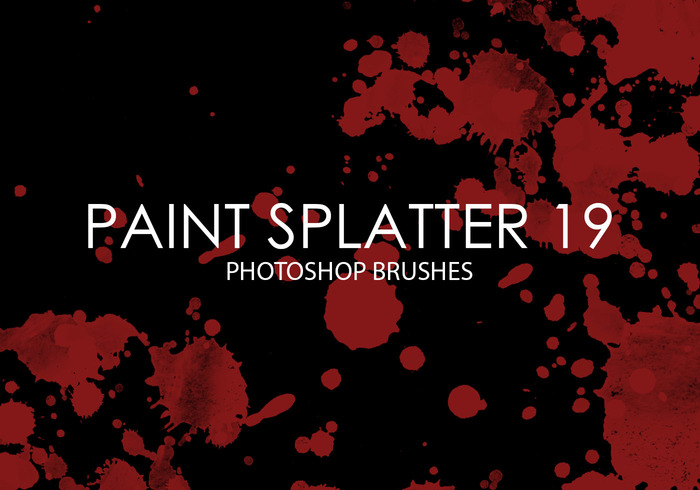 Paint Splatter libre Pinceles para Photoshop 19