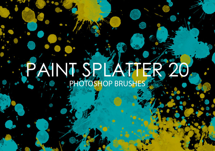 Free Paint Splatter Pinceles para Photoshop 20