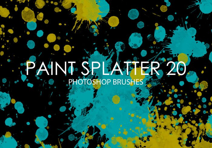 Gratis Verf Splatter Photoshop Borstels 20