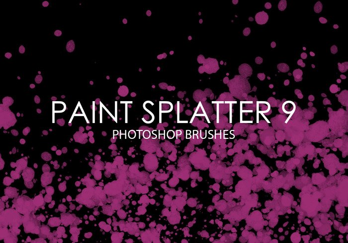 Paint Splatter Pinceles para Photoshop 9