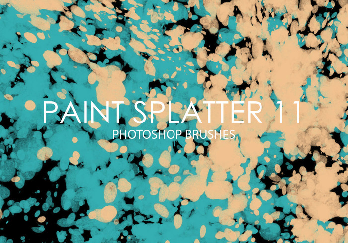 Free Paint Splatter Photoshop Brushes 11