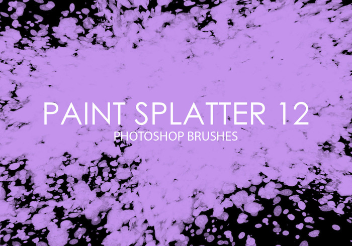 Free Paint Splatter Photoshop Brushes 12