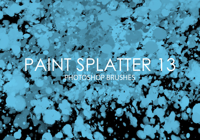 Free Paint Splatter Photoshop Brushes 13