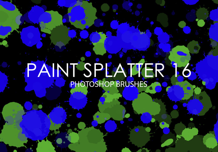 Free Paint Splatter Photoshop Bürsten 16