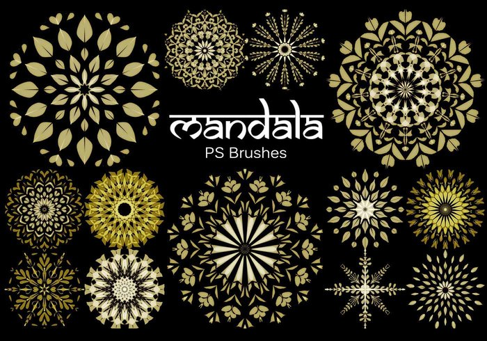 20 Mandala PS Brushes abr. Vol.7