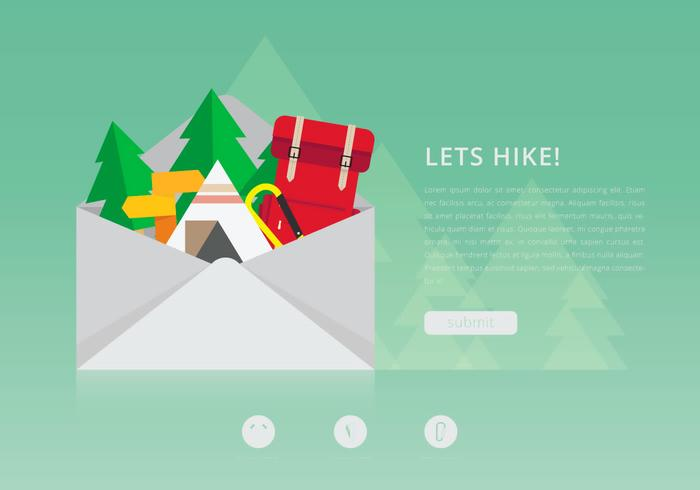 Hiking Invitation Template PSD