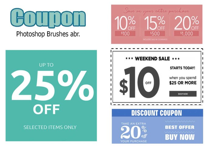 20 Coupon PS Brushes abr.vol.4