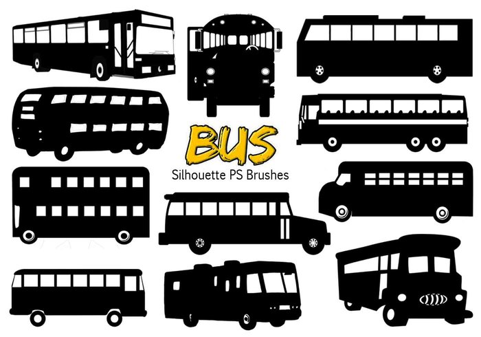 20 Bus Silhouette Ps Brushes vol.4