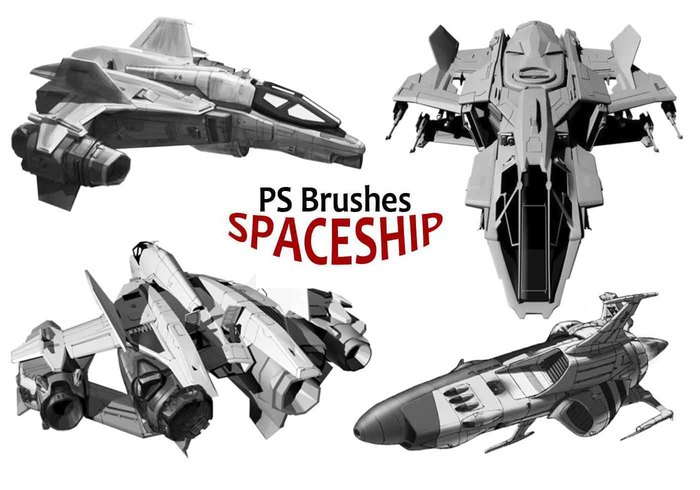 20 Spaceship PS Brushes abr. vol.4