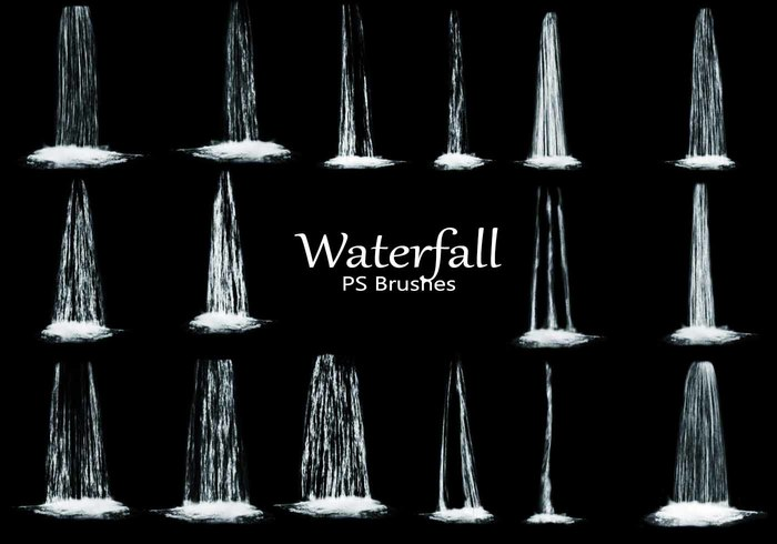 20 Waterfall PS Brushes abr. Vol.5