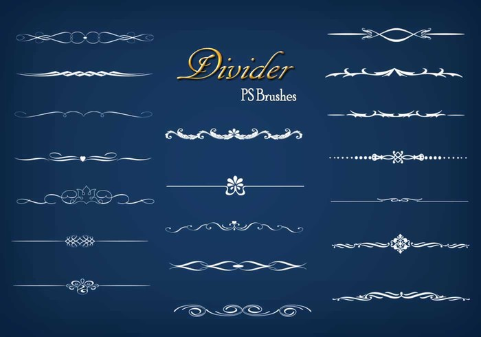20 Divider Ps Brushes abr. vol.9