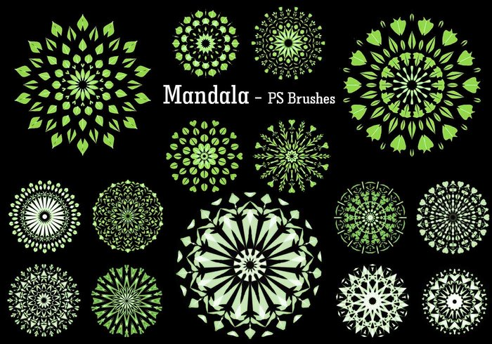 20 Mandala PS Brushes abr. Vol.9