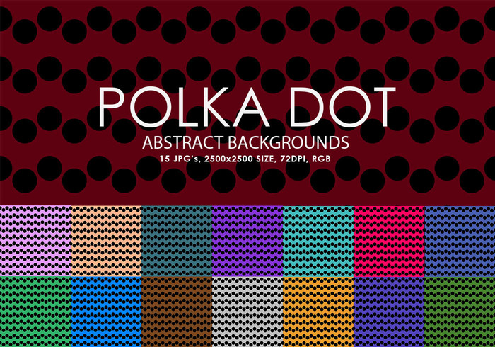 Fonds de points de polka gratuits
