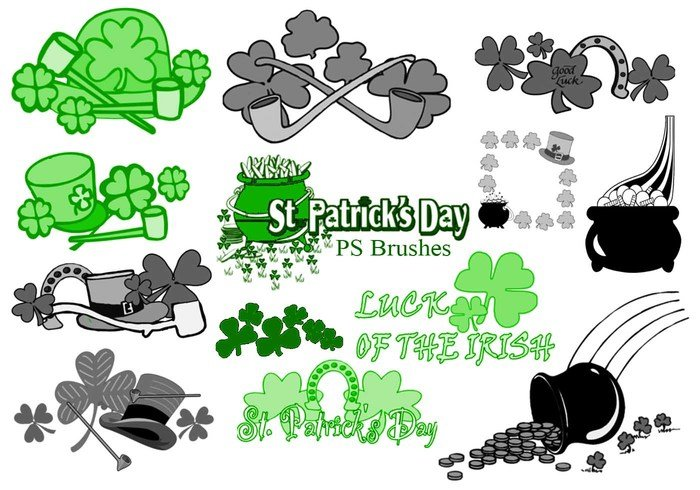 20 St. Patricks Day PS Bürsten abr.Vol.7