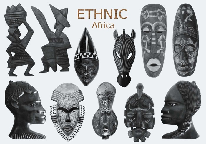 20 Ethnic PS Brushes abr. vol.10