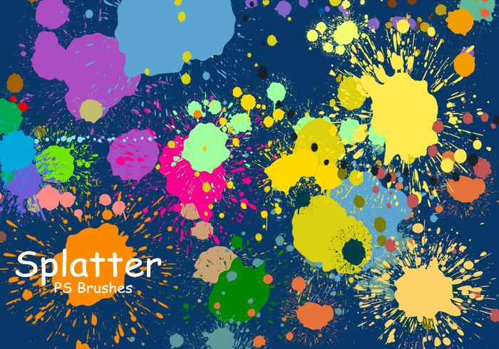 20 Splatter Color PS Borstels abr vol.3