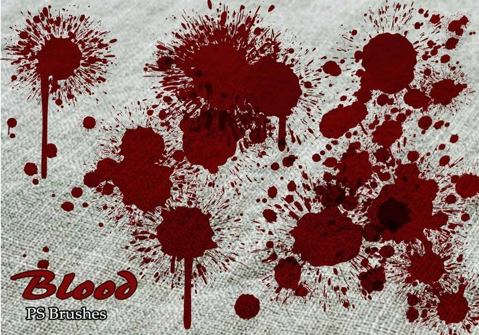 20 Blood Splatter PS Brushes abr vol.6