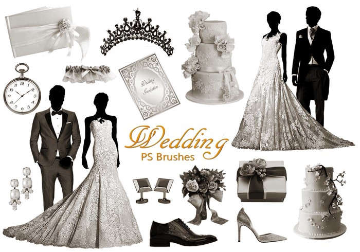 20 Wedding PS Brushes abr. vol.10