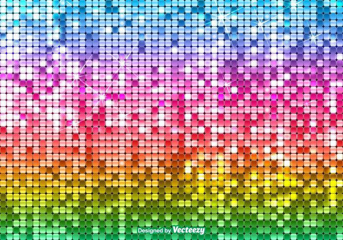 Bright Sequin Rainbow Background