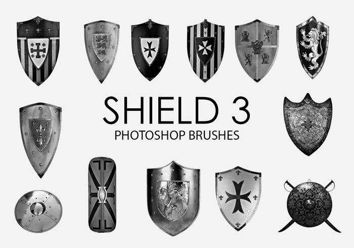 Free Shield Photoshop Brushes 3