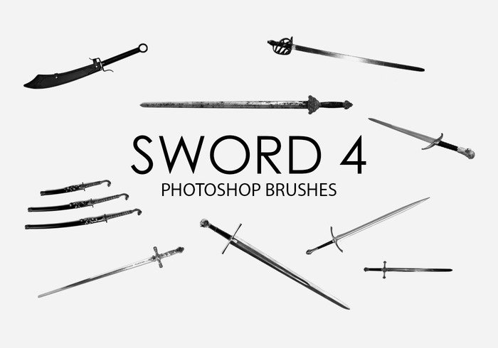 Free Sword Photoshop Brushes 4