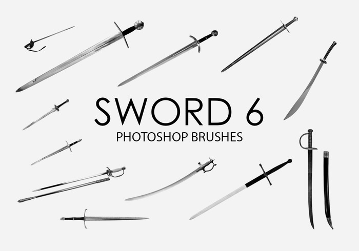 Free Sword Photoshop Brushes 6