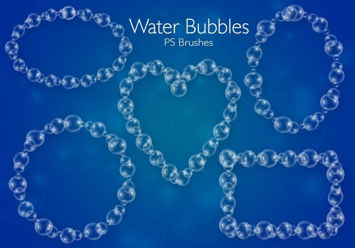 20 Bubbles d'eau PS Brushes abr.Vol.5