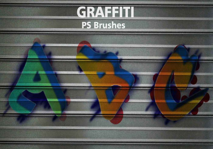 26 Alphabet Graffiti PS Brushes abr. Vol.14