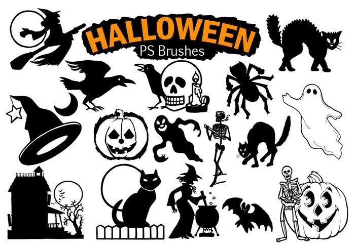 20 Halloween PS Bürsten abr. Vol. 6