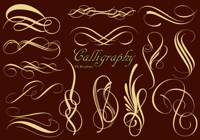 20 Calligraphy PS Brushes abr. Vol.1