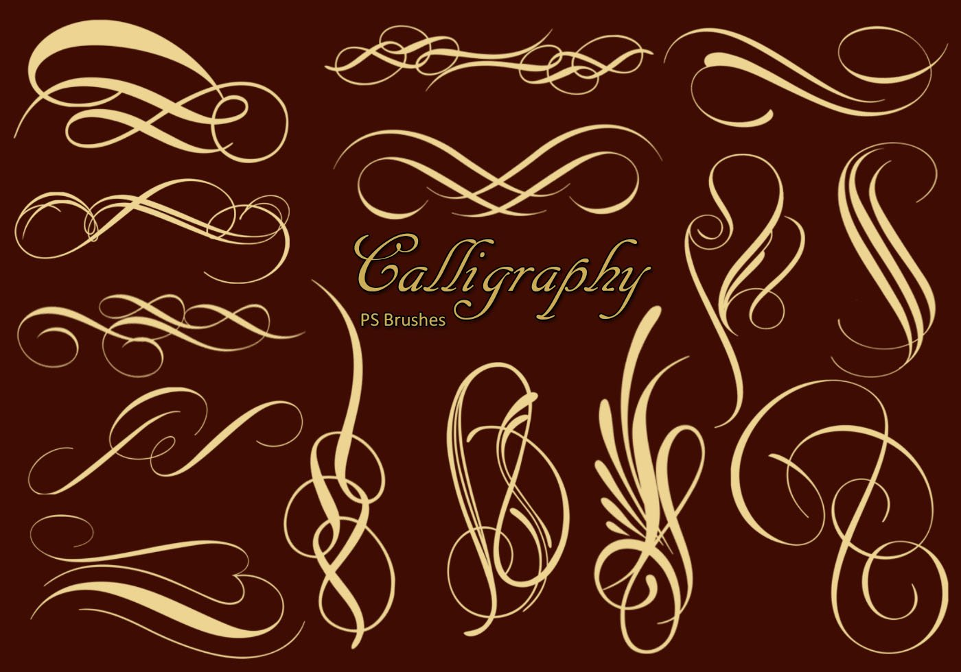 Calligraphy ps brushes abr vol free photoshop