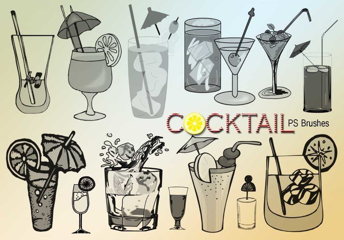 20 Cocktail PS Brushes.abr Vol.1