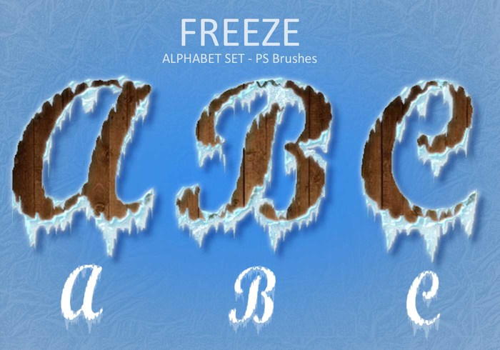 Freeze Alphabet Set PS Brushes abr. Vol.2