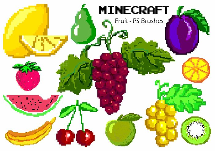 20 Minecraft Fruit PS Pinceles abr. Volúmen 1