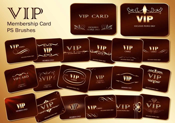 20 Vip Card PS Brushes abr. Vol.2