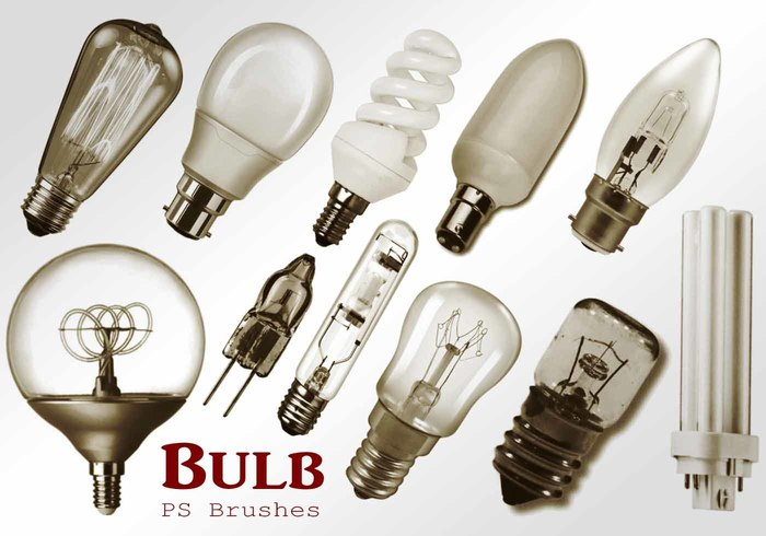 20 Light Bulb Ps Brushes abr. vol.3