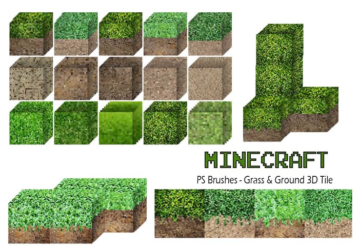 20 Minecraft 3D Tile PS borstar abr. vol.6