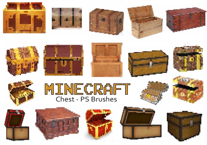 20 Minecraft Bröst PS Brushes abr. Vol.7